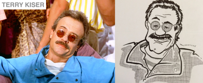New Caricature in Gallery of Terry Kiser (as Bernie Lomax)