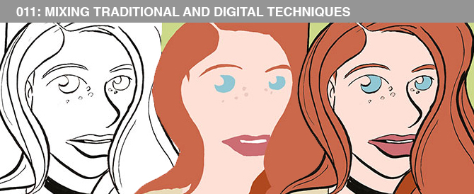 011: Mixing Traditional and Digital Techniques When Creating Caricatures