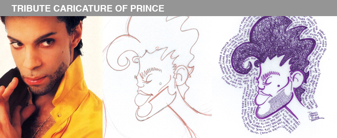 News & Updates: Tribute Caricature of Prince